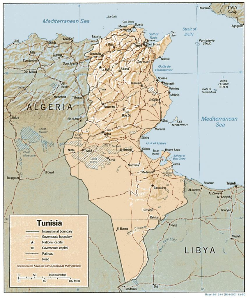 Map Tunisia
