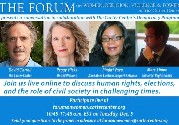 Human Rights, Elections and the Role of Civil Society in Challenging Times (archived video)